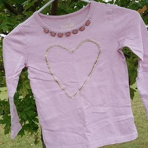 Crew cuts S distressed heart and Gem long sleeve